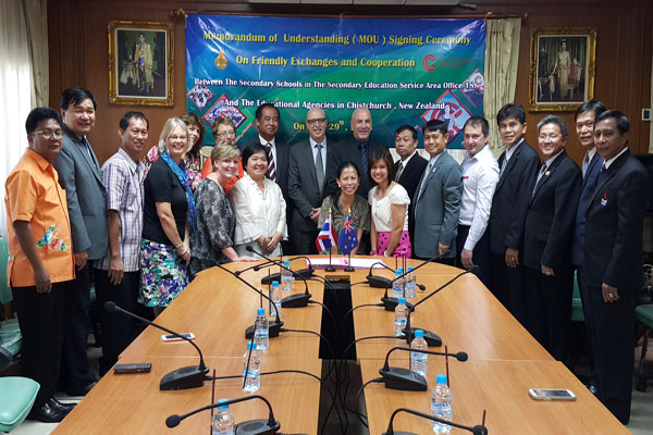 Education Institutions from Canterbury, New Zealand visit Rayong&Chonburi schools in May 2015